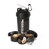 binh lac ifitness pro shaker 4 in 1 black