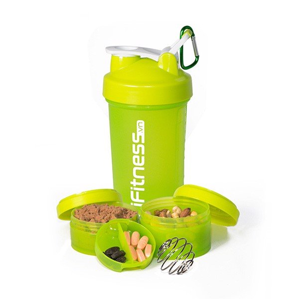 GIFT Bình lắc iFitness Pro Shaker 4-in-1 Cao Cấp - Xanh lá