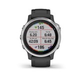Garmin Fenix 6S Silver with Black Band