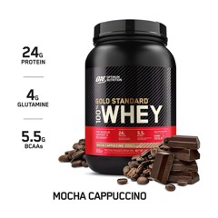 Optimum Nutrition Gold Standard 100% Whey Protein Powder, Mocha Cappuccino