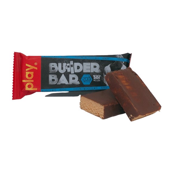 Thanh Protein Play Nutrition Builder Bar 60g - 4 Mùi