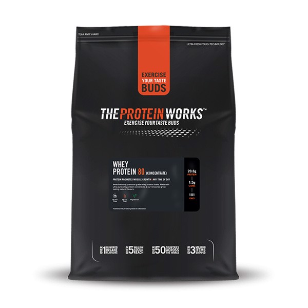 Sữa Tăng Cơ The Protein Works Whey Protein 80 Concentrate 5 mùi - 1kg