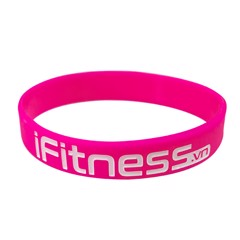 Gift Vòng đeo tay cao su thể thaoFitness for Success - Pink
