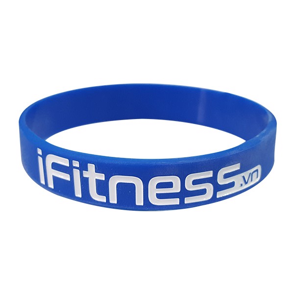 Gift Vòng đeo tay cao su thể thao Fitness for Success - Blue