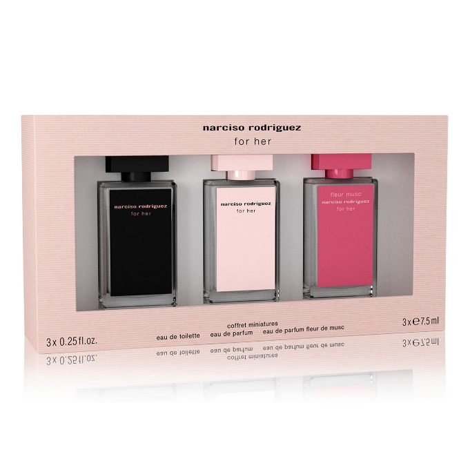 Bộ Gift Set Narciso Rodriguez 3-Pc. For Her Deluxe Mini
