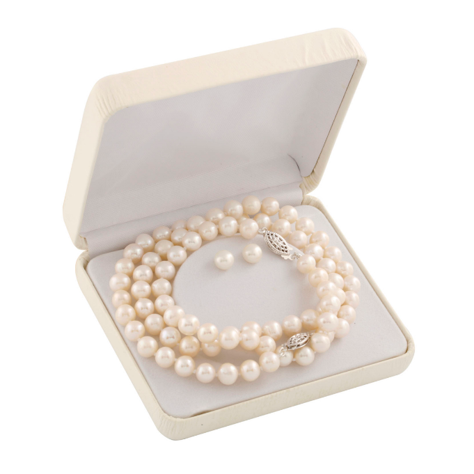 Bộ ngọc trai White Cultured Pearl Necklace