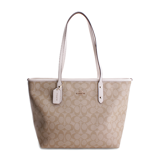 Túi nữ Coach Light Khaki & Chalk Signature Tote