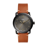 Đồng hồ nam Fossil Commuter Black Dial Brown Leather Watch