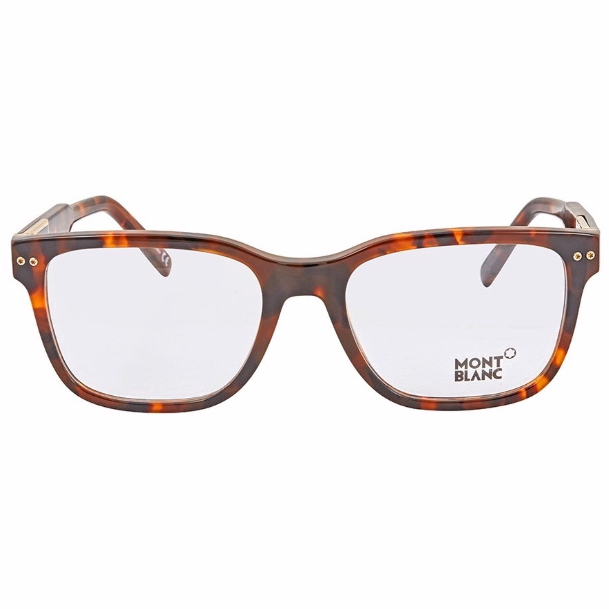 Kính nam Montblanc Dark Havana Men's Rectangle Eyeglasses