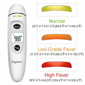 Nhiệt kế Vigorun Medical Forehead and Ear Thermometer