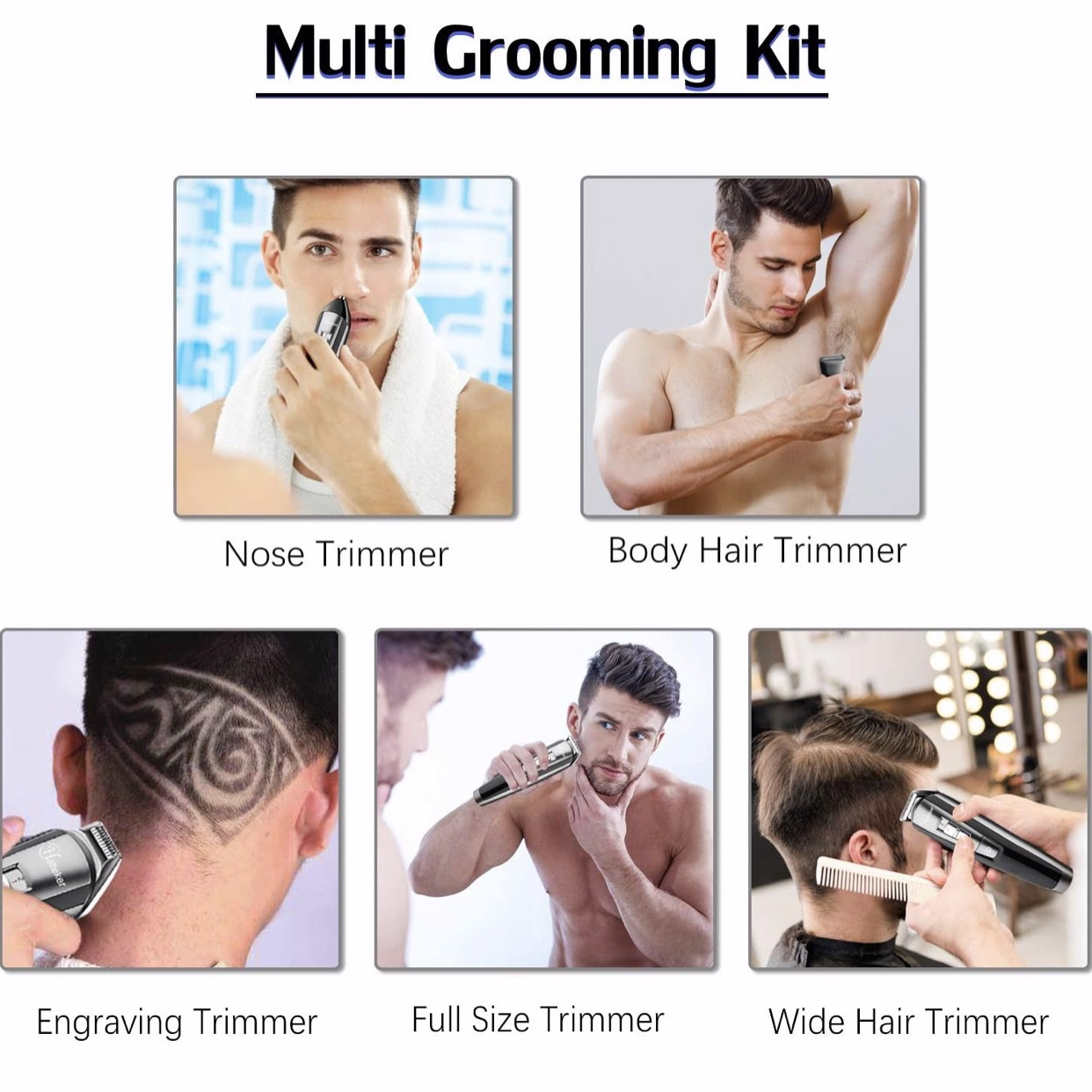 Máy cạo râu HATTEKER Hair Clipper Beard Trimmer Kit