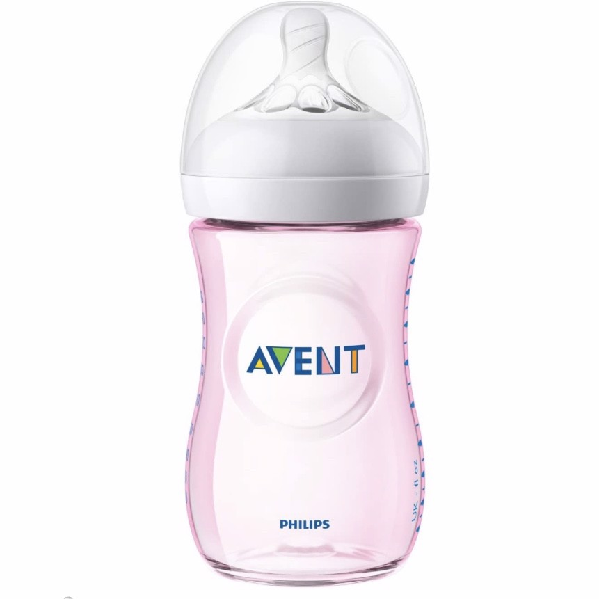Bình sữa cho bé Philips Avent Natural Baby Bottle Pink Gift Set