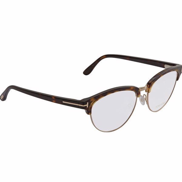 Tom Ford Dark Havana Ladies Eyeglasses