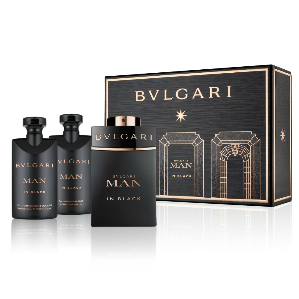 Bộ Gift Set Bvlgari Man In Black Eau De Parfum Spray