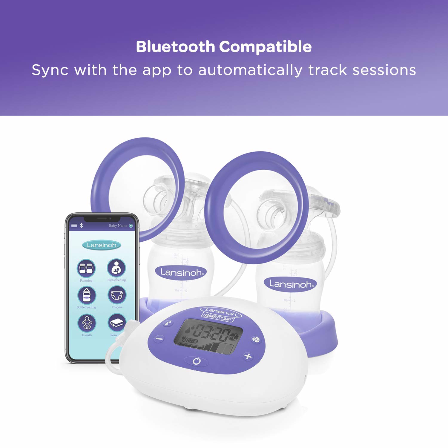 Máy hút sữa Lansinoh SmartPump Double Electric Breast Pump with Bluetooth and App
