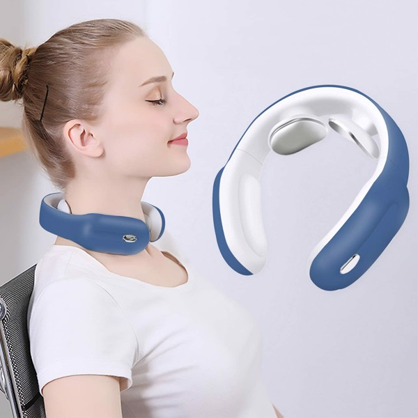 Máy mát xa cổ Neck Massager with Heat,Intelligent Wireless Portable 4D Neck Massage Equipment