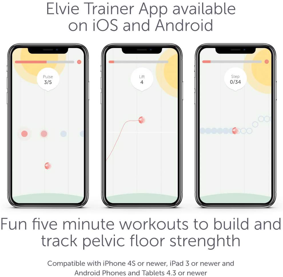 Elvie Trainer Exerciser To Strengthen and Tone Pelvic Floor Muscles