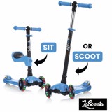 Xe Lascoota 2-in-1 Kick Scooter with Removable Seat Great