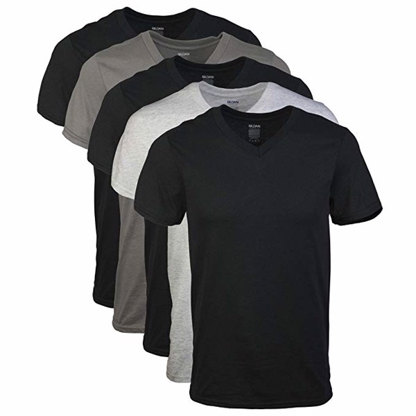 Set 5 Áo Gildan Men's Assorted V-Neck T-Shirts