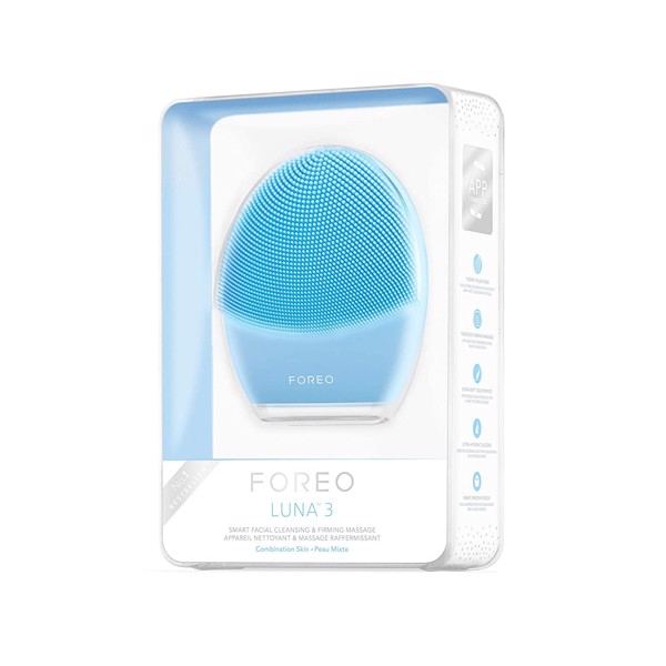 Máy rửa mặt FOREO LUNA 3 for Combination Skin, Smart Facial Cleansing and Firming Massage Brush