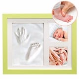 Lime Clay Hand/Footprint Photo Frame for Babies, Kids, and Pets