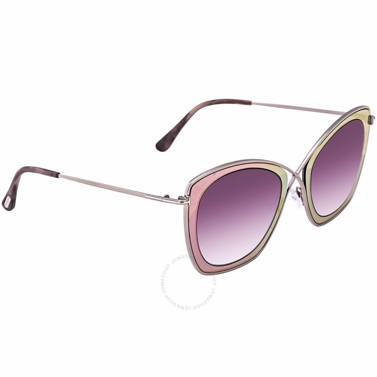 Tom Ford India Silver Pink Butterfly Sunglasses