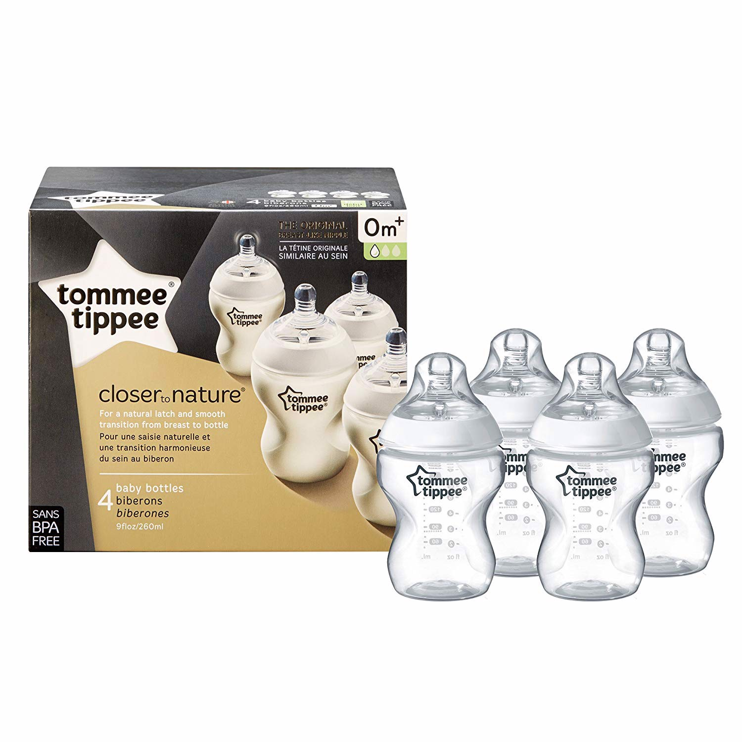 Set 4 bình sữa Tommee Tippee Closer to Nature Baby Bottle