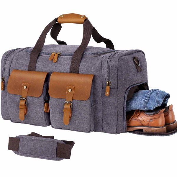 Túi đa năng Duffle Bag for Men Canvas Genuine Leather Large