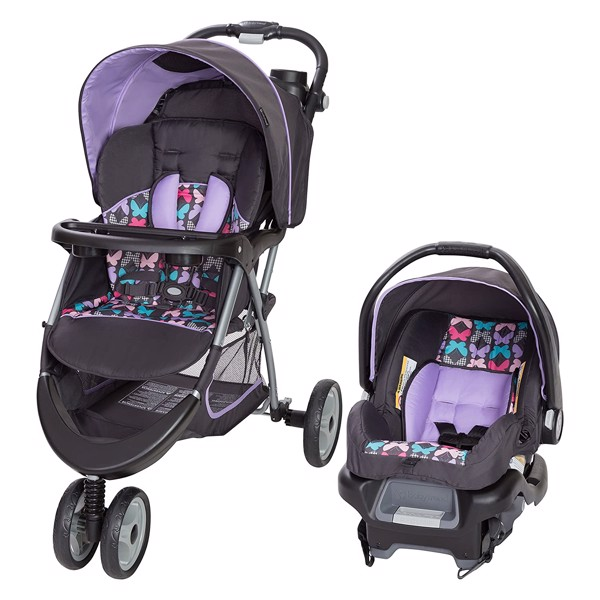 Xe đẩy kèm Carseat Baby Trend EZ Ride 35 Travel System, Sophia