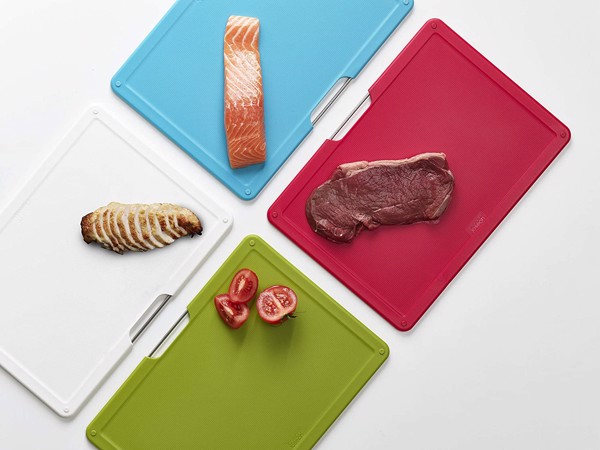 Bộ thớt Joseph Joseph Folio Plastic Cutting Board Set with Storage Case Color
