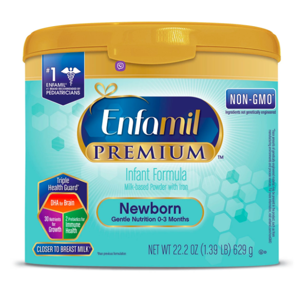 Enfamil PREMIUM Newborn Infant Formula Powder 629g