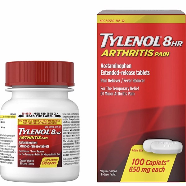 Tylenol 8 Hour Arthritis Pain Tablets with Acetaminophen