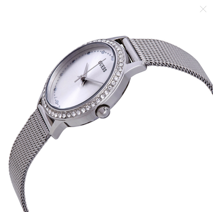 Đồng hồ nữ Guess Chelsea Crystal Silver Dial Stainless Steel