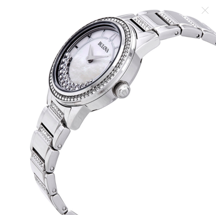 Đồng hồ nữ Bulova Crystal Mother of Pearl Dial Ladies Watch
