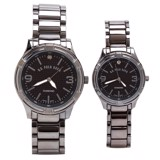 Đồng hồ cặp His & Hers Diamond Gunmetal Dress Watch