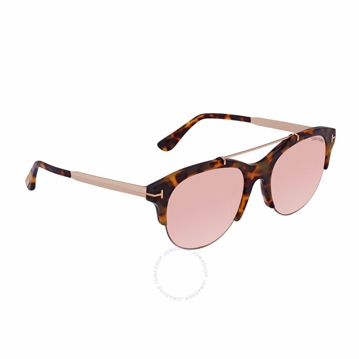 Tom Ford Tortoise Oval Ladies Sunglasses