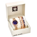 Đồng hồ nữ Anne Klein Navy Mother of Pearl Crystal Dial