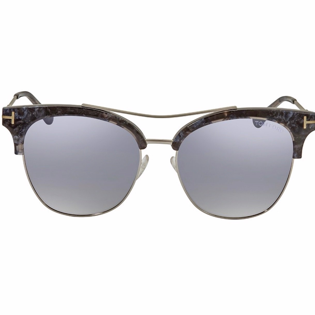 Tom Ford Silver Mirror Cat Eye Ladies Sunglasses