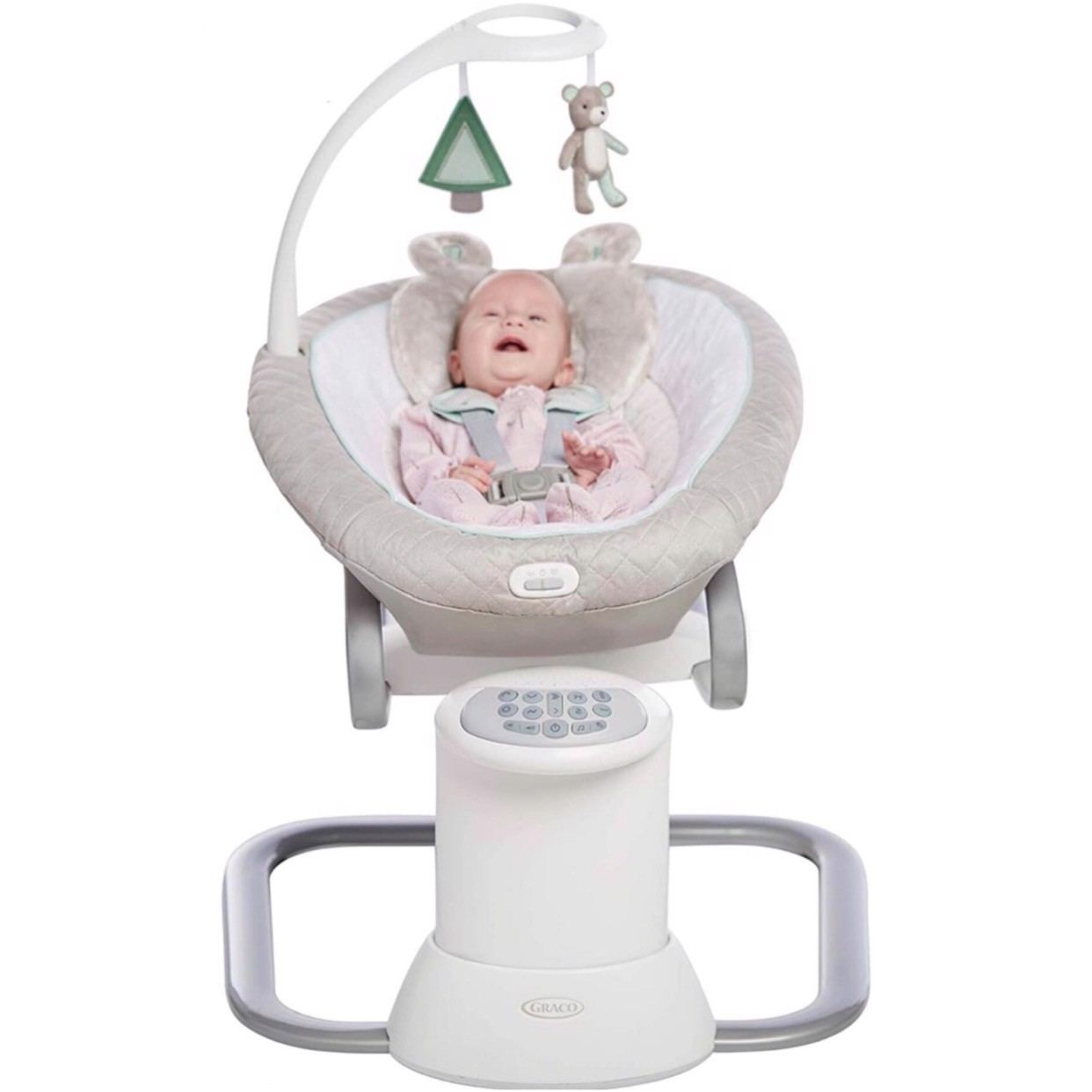 Nôi Graco EveryWay Soother Baby Swing with Removable Rocker, Tristan
