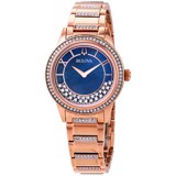 Đồng hồ nữ Bulova Crystal TurnStyle Blue Mother of Pearl Dial Ladies Watch