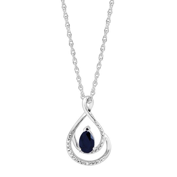 Bộ trang sức Natural Sapphire Pendant & Earrings Set