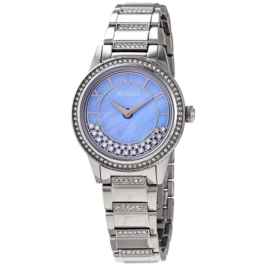 Đồng hồ nữ Bulova TurnStyle Periwinkle Mother of Pearl Crystal Dial Ladies Watch