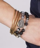 Gemstone & Two-Tone Ode to Geode Stretch Bracelet