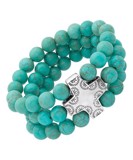 Howlite & Sterling Silver Devotion Stretch Bracelet