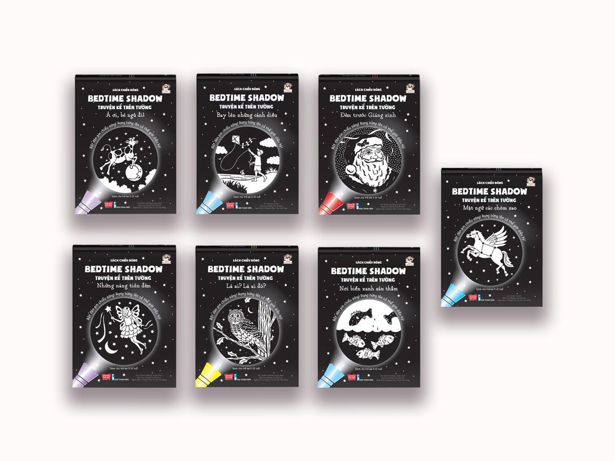 Set 7 cuốn Sách chiếu bóng - Bedtime Shadow - Truyện kể trên tường