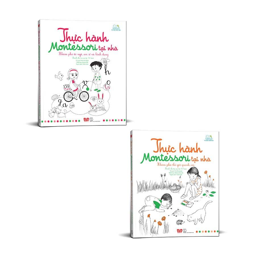 Set sách Thực hành Montessori tại nhà tặng kèm 1 cuốn sách mặt nạ Động vật nuôi