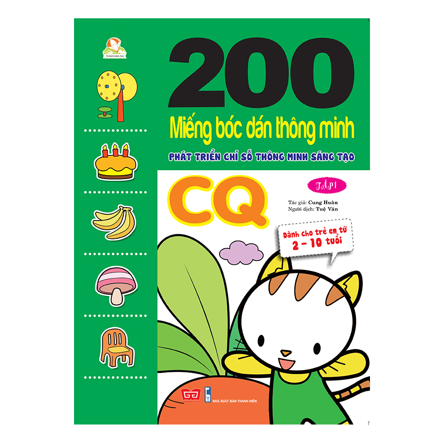 200 miếng bóc dán TM PT chỉ số TM sáng tạo CQ T1 (Dành cho trẻ 2-10 tuổi)