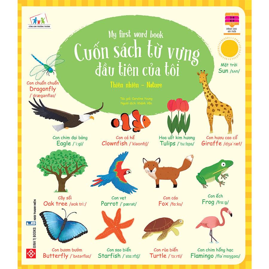 Cuốn sách từ vựng đầu tiên của tôi - My first word book- Thiên nhiên - Nature