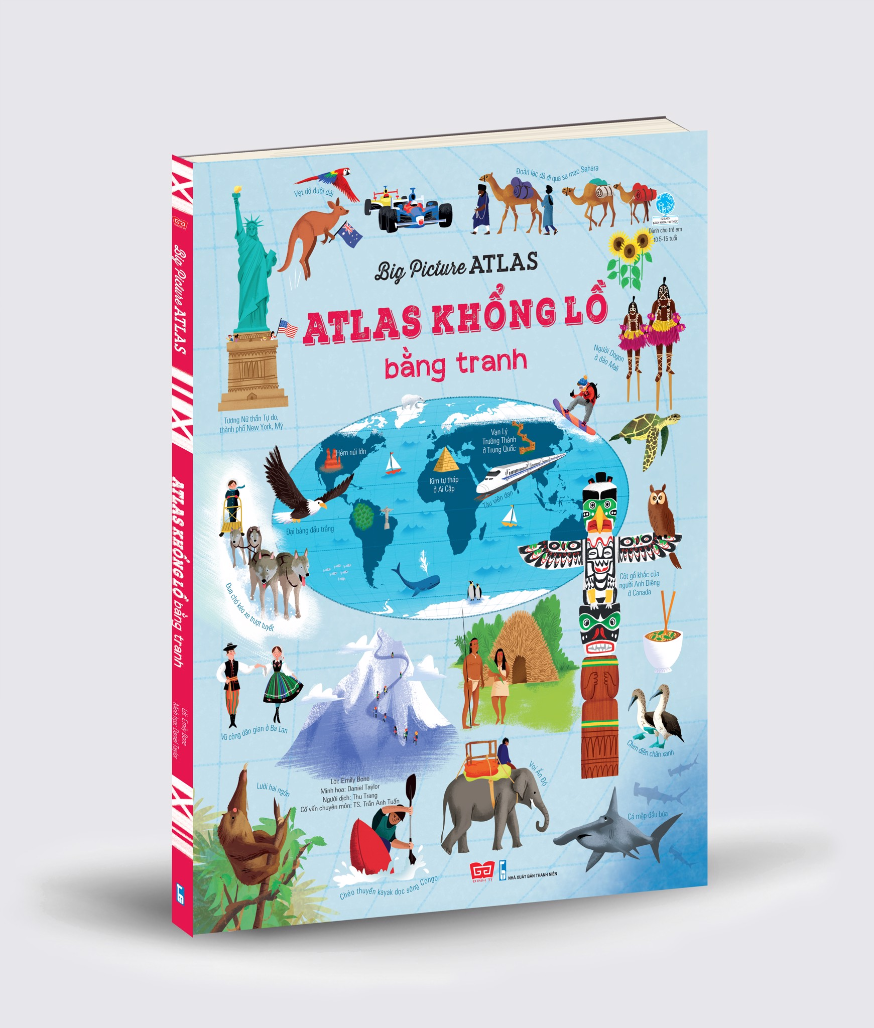 Sách tương tác - Big Picture Atlas - Atlas khổng lồ bằng tranh