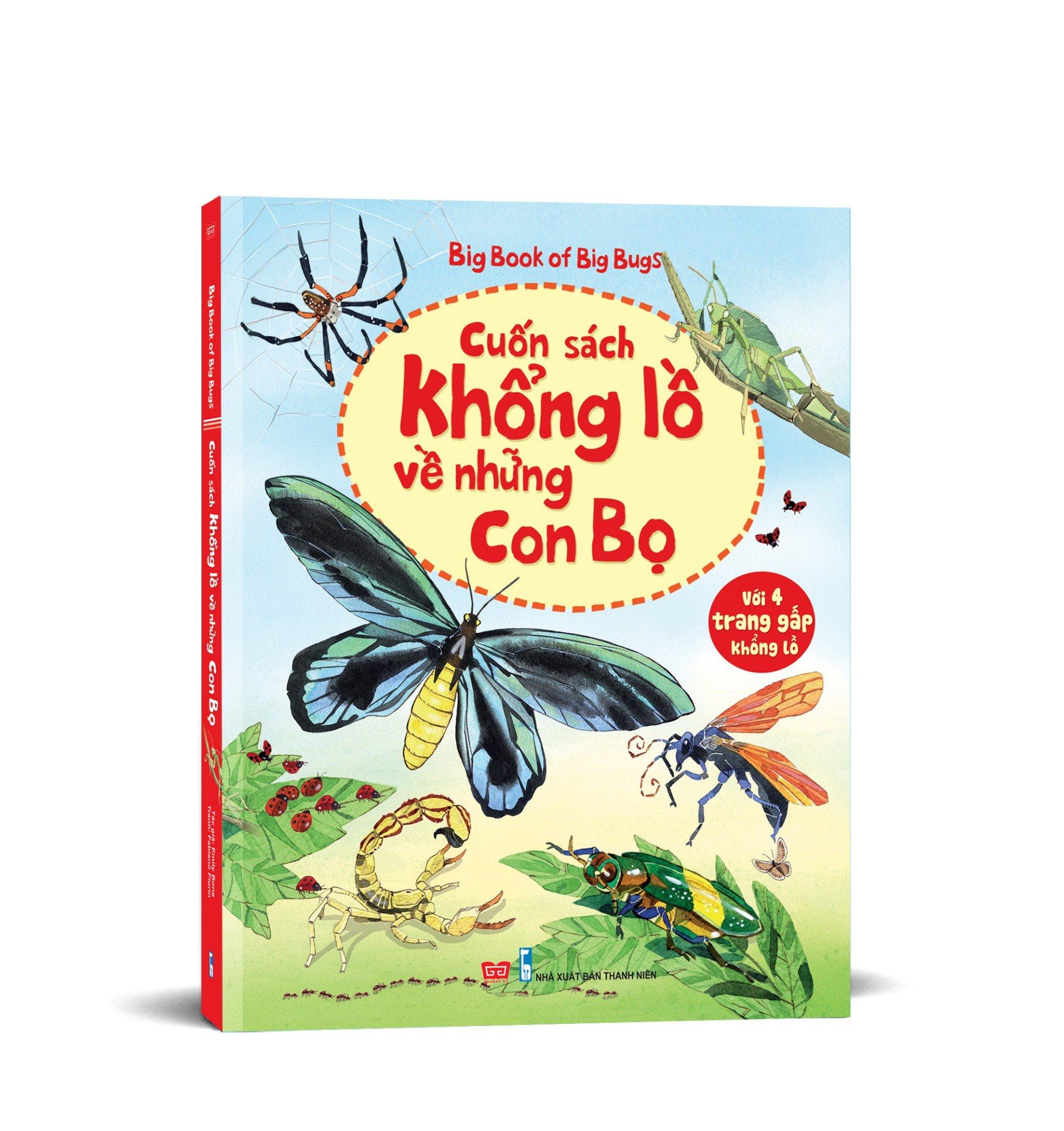Sách tương tác - Big book - Cuốn sách khổng lồ về những con bọ (tái bản 2018)